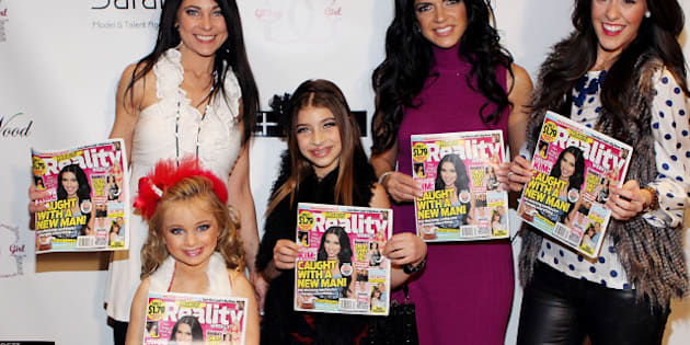 PROVIDENCE, RI - DECEMBER 29:  Susanna Barrett, Isabella Barrett, Gia Guidice, Teresa Guidice and Courtney Kerr attend Isabella Barrett's from TLC's Toddlers and Tiaras Reality Weekly Launch Event to benefit her anti-bullying bracelets at the Providence Marriott Downtown Hotel on December 29, 2011 in Providence, Rhode Island. (Photo by Marc Andrew Deley/GettyImages)