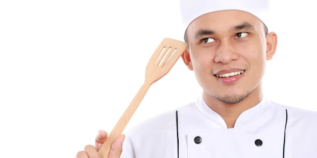 portrait of asian male chef...