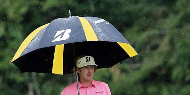AUGUSTA, GA - APRIL 14:  Brandt Snedeker of the United States walks to his ball to hit his second shot on the fifth hole during the final round of the 2013 Masters Tournament at Augusta National Golf Club on April 14, 2013 in Augusta, Georgia.  (Photo by David Cannon/Getty Images)