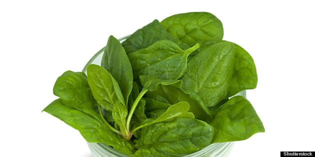 spinach into the bowl
