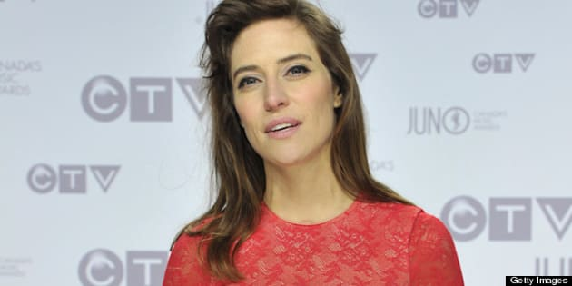 OTTAWA, ON - APRIL 01:  Feist poses on the red carpet 2012 JUNO Awards at Scotiabank Place on April 1, 2012 in Ottawa, Canada.  (Photo by Sonia Recchia/WireImage)