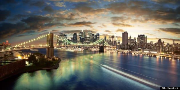 amazing new york cityscape  ...