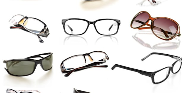 eyeglasses collection isolated...