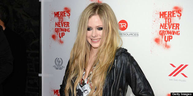 WEST HOLLYWOOD, CA - APRIL 25:  Singer Avril Lavigne arrives for her secret performance at The Viper Room on April 25, 2013 in West Hollywood, California.  (Photo by Jason Merritt/Getty Images for BWR)