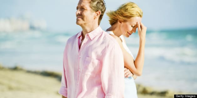 Mature Couple Having Difficult Relationship