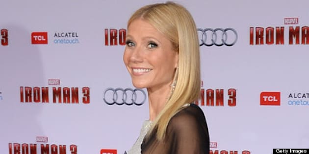 HOLLYWOOD, CA - APRIL 24:  Actress Gwyneth Paltrow attends the premiere of Walt Disney Pictures' 'Iron Man 3' at the El Capitan Theatre on April 24, 2013 in Hollywood, California.  (Photo by Jason Merritt/Getty Images)