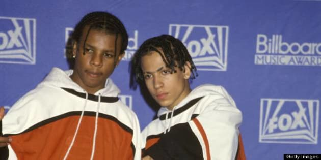 LOS ANGELES, USA - 8th DECEMBER: American rap duo Kriss Kross posed at the Billboard Music Awards in Los Angeles, USA on 8th December 1992. (Photo by Martina Raddatz/Redferns)