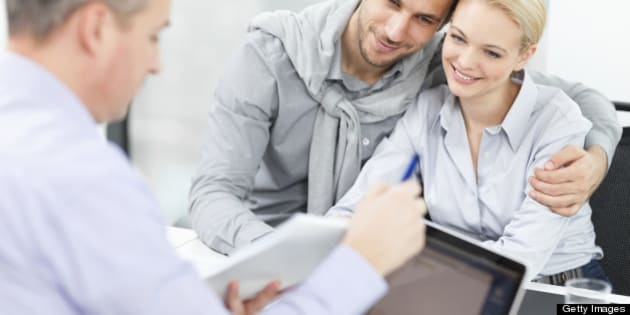 Young couple at meeting with financial advisor