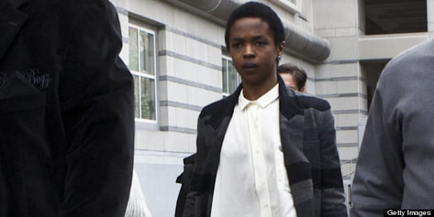 NEWARK, NJ - APRIL 22: Signer Lauryn Hill is seen leaving court after the judge postpones her sentencing and gave her two weeks to pay back taxes April 22, 2013 in Newark, New Jersey.  Hill pleaded guilty to tax evasion charges in June 2012 for failure to pay federal taxes on USD 1.8 million earned from 2005-2007. She faces a maximum one-year jail sentence for each of the three accounts.  (Photo by Kena Betancur/Getty Images)