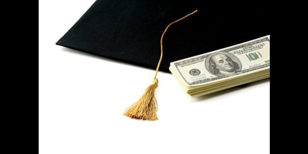 education costs   isolated on...