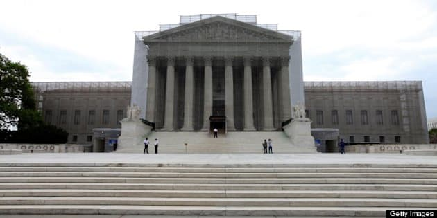 WASHINGTON, D. C. - APRIL 19:  U.S. Supreme Court Building, in Washington, D. C. on APRIL 19.  (Photo By Raymond Boyd/Getty Images)