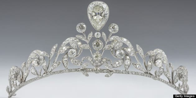 LUXEMBOURG - OCTOBER 20:  (NO SALES, NO ARCHIVE)  This handout image provided by the Grand-Ducal Court of Luxembourg, shows the Lannoy family tiara which will be worn by Countess Stephanie de Lannoy for her wedding ceremony to  Prince Guillaume of Luxembourg at the Cathedral of our Lady of Luxembourg on October 20, 2012 in Luxembourg, Luxembourg. The tiara made by Altenloh in Brussels was previously worn  by her sisters and sisters-in-law  on their wedding days.  (Photo by Grand-Ducal Court of Luxembourg via Getty Images)