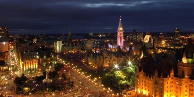 Canada Day in Ottawa, Canada.
