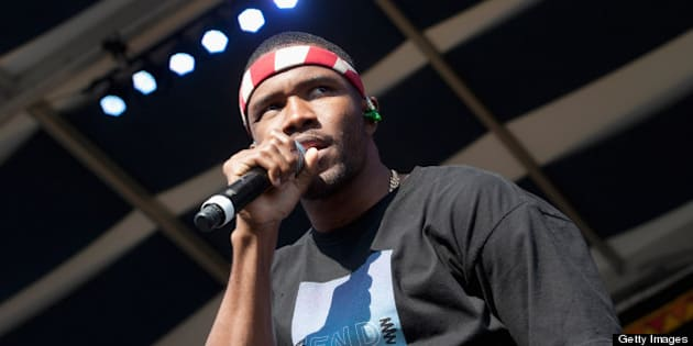 NEW ORLEANS, LA - MAY 04:  Frank Ocean performs during the 2013 New Orleans Jazz & Heritage Music Festival at Fair Grounds Race Course on May 4, 2013 in New Orleans, Louisiana.  (Photo by Erika Goldring/WireImage)