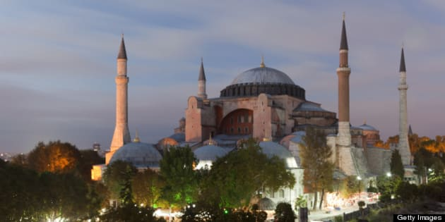 Hagia Sophia is a former Orthodox basilica, constructed between 532 and 537 by Byzantine Emperor Justinian. It remained the largest cathedral in the world for nearly 1000 years, until Seville Cathedral ws completed. Upon Ottoman conquest it was converted into a mosque, and is now a museum.