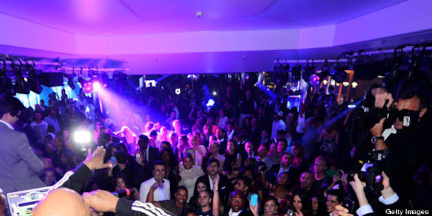 CANNES, FRANCE - MAY 17:  DJ Ruckus (L) and Rev Run perform at the BELVEDERE Party with hip hop icon Rev Run from RUN D.M.C and DJ Ruckus performing at the legendary VIP ROOM nightclub to celebrate the world?s first super-premium vodka?s return to Cannes for the sixth year at JW Marriott on May 17, 2013 in Cannes, France.  (Photo by Ian Gavan/Getty Images for BELVEDERE)