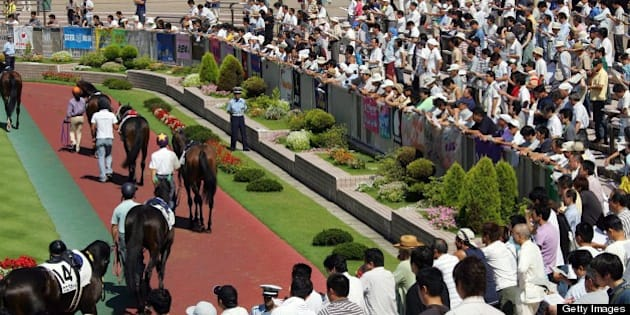 NIIGATA, JAPAN - AUGUST 25: Horses are paraded during the JRA Niigata Race at Niigata Race Course where total of 191 hourses run in 12 races on August 25, 2007 in Niigata, Japan. Japan Racing Association (JRA) announced on August 17 the cancellation of the races on August 18/19 due to possible equine influenza (EI) outbreak after 29 horses were found infected out of the 163 horses that JRA examined. (Photo by Getty Images)