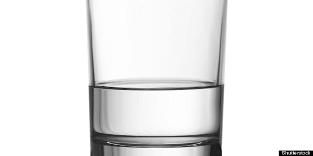 low half full glass of water...
