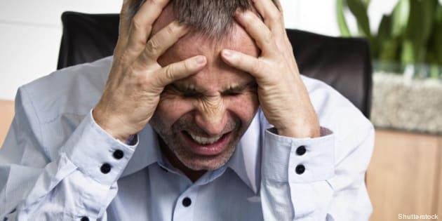 frustrated overloaded senior...