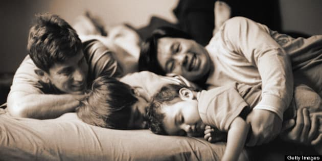 Family On the Bed