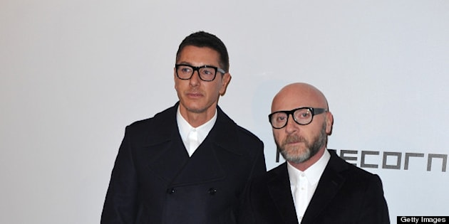 MILAN, ITALY - FEBRUARY 23:  Stefano Gabbana and Domenico Dolce attend the Vogue Talents Corner - Vogue Italia during Milan Fashion Week Womenswear A/W 2011 on February 23, 2011 in Milan, Italy.  (Photo by Jacopo Raule/Getty Images)