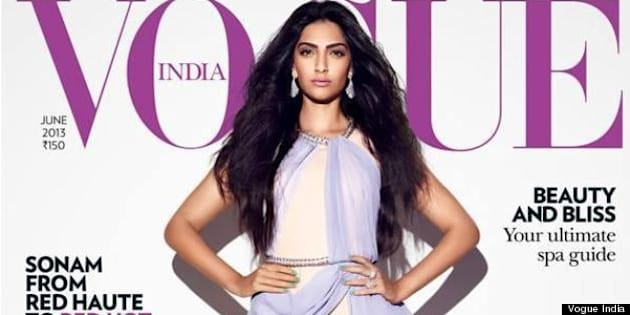 Sonam Kapoor Vogue India  Bollywood Star Covers Two June 2013 Issues  (PHOTOS). The Huffington Post Canada 49e7af3aef