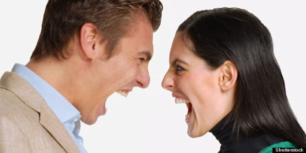 anger young couple fighting and ...