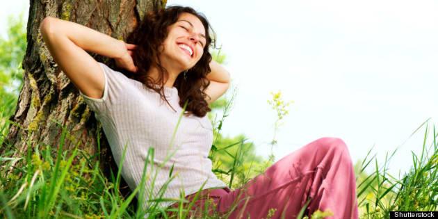 beautiful young woman relaxing...