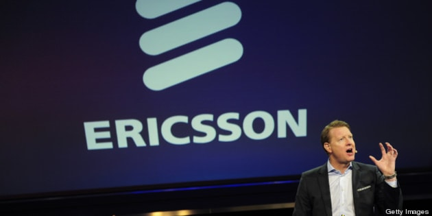 Ericsson president and CEO Hans Vestberg gives a press conference in Barcelona on February 25, 2013 on the first day of the Mobile World Congress. The 2013 Mobile World Congress, the world's biggest mobile fair, is held from February 25 to 28 in Barcelona. AFP PHOTO/JOSEP LAGO        (Photo credit should read JOSEP LAGO/AFP/Getty Images)