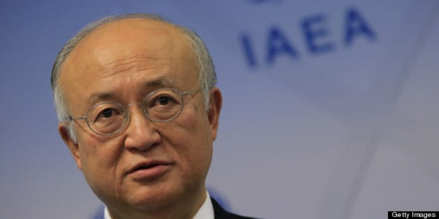Japanese General Director of International Atomic Energy Agency (IAEA) Yukiya Amano is pictured during a press conference as part of the IAEA Board of Governors meeting at the UN atomic agency headquarter in Vienna on March 4, 2013. The head of the UN atomic agency called on Iran to grant access to a military base where Tehran allegedly conducted nuclear weapons research, without waiting for an elusive wider accord.  AFP PHOTO / ALEXANDER KLEIN        (Photo credit should read ALEXANDER KLEIN/AFP/Getty Images)