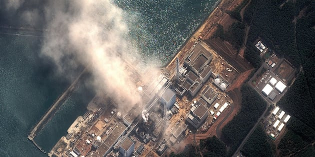 FUTABA, JAPAN - MARCH 14:  In this satellite view, the Fukushima Dai-ichi Nuclear Power plant after a massive earthquake and subsequent tsunami on March 14, 2011 in Futaba, Japan. Two explosions the nuclear power station one today and the first two days ago at a different reactor housing unit. Japanese officials said cooling systems have also failed at a third reactor as a result of an earthquake measuring 8.9 on the Richter scale that hit the northeast coast of Japan on March 11, 2011 and tsunami that knocked out electricity to much of the region.  (Photo by DigitalGlobe via Getty Images)