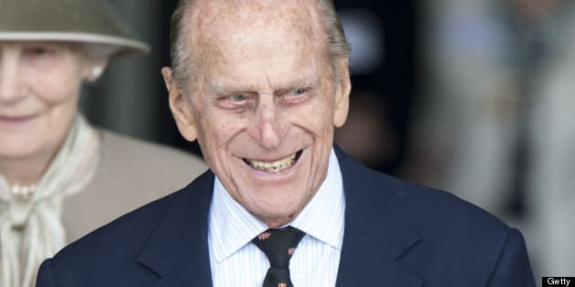 CAMBRIDGE, ENGLAND - MAY 23:  Prince Philip, Duke of Edinburgh leaves The Medical Research Council on May 23, 2013 in Cambridge, Cambridgeshire.  (Photo by Mark Cuthbert/UK Press via Getty Images)