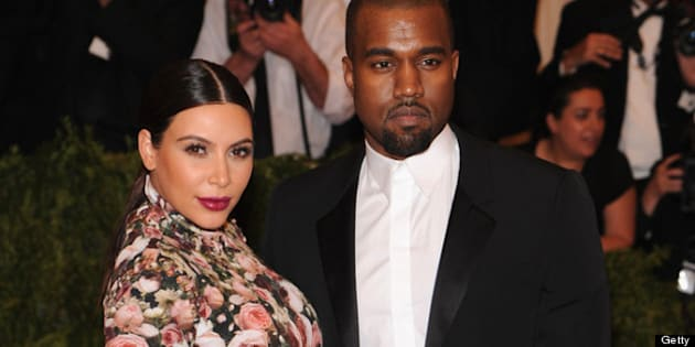 NEW YORK, NY - MAY 06:  Kim Kardashian and  Kanye West attend the Costume Institute Gala for the 'PUNK: Chaos to Couture' exhibition at the Metropolitan Museum of Art on May 6, 2013 in New York City.  (Photo by Jamie McCarthy/Getty Images for The Huffington Post)