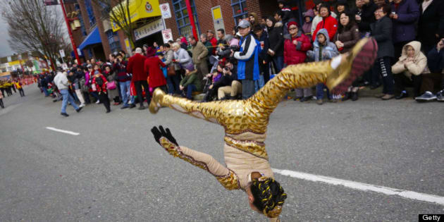 [UNVERIFIED CONTENT] Performers performs during the Chinese New Year Parade at Chinatown in Vancouver