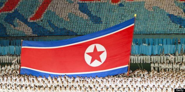 North Korea, Pyongyang, Performers at Arirang Mass Games