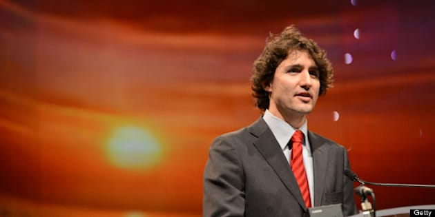 TORONTO, ON - DECEMBER 22:   Liberal Party of Canada's leadership candidate, Justin Trudeau, delivers a speech and then shakes hands at the Reviving Islamic Spirit Conference in Toronto.  on Dec 22 2012.(Vince Talotta/Toronto Star)        (Vince Talotta/Toronto Star via Getty Images)