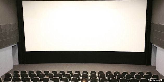 people in a modern cinema