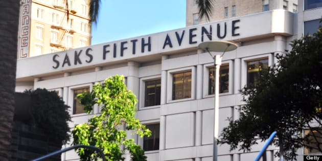 SAN FRANCISCO, CA - MAY 18, 2013: The Saks Fifth Avenue store on Post Street is among the upscale retailers in the Union Square district of San Francisco, California. (Photo by Robert Alexander/Getty Images)