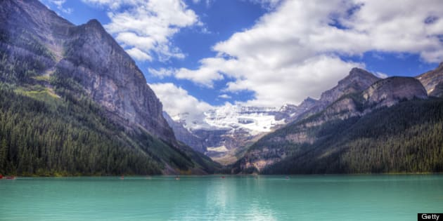 Iconic Lake Louise, AB, Canada. Located in Banff National Park. Shot in HDR.