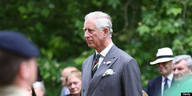 LONDON, ENGLAND - JUNE 27:  Prince Charles, Prince of Wales takes a royal salute after presenting Operational service medals to the servicemen of the Royal Dragoon Guards at Clarence House on June 27, 2013 in London, England.  (Photo by Tim P. Whitby - WPA Pool/Getty Images)