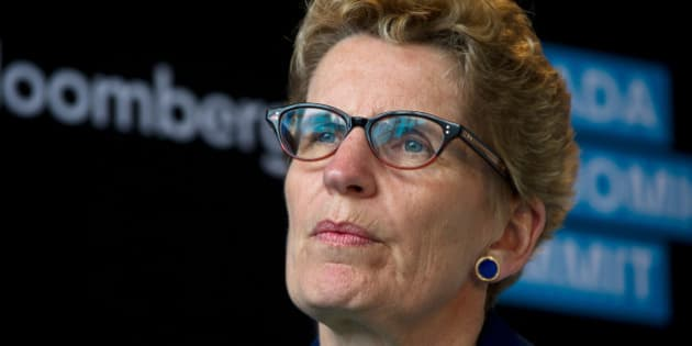 Kathleen Wynne, premier of Ontario, speaks at the Bloomberg Canada Economic Summit in Toronto, Ontario, Canada, on Tuesday, May 21, 2013. Wynne said she won't increase corporate taxes. Photographer: Galit Rodan/Bloomberg via Getty Images
