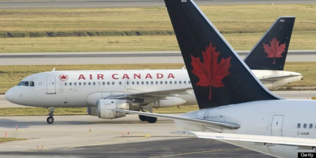 111103 File photo's of Air Canada jets, Jazz, Westjet, U.S Airways, ground personal unloading AC jet, fueling etc. (Dick Loek, Toronto Star) (Photo by Dick Loek/Toronto Star via Getty Images)