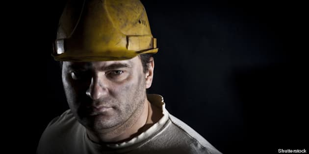 portrait of the worker on a...