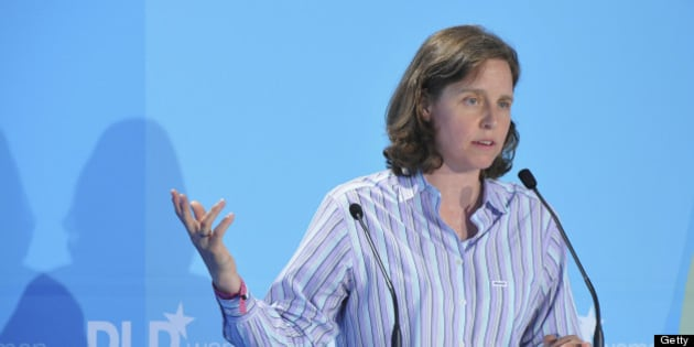 MUNICH, GERMANY - JUNE 30:  Megan Smith of Google speaks during the Digital Life Design women conference (DLDwomen) at Bavarian National Museum on June 30, 2011 in Munich, Germany. The conference features discussions, case studies and lectures and brings together an extraordinary group of international high-profile speakers and more than 500 participants from business, media, technology, society, health, education, politics and science.  (Photo by Sascha Baumann/Getty Images)