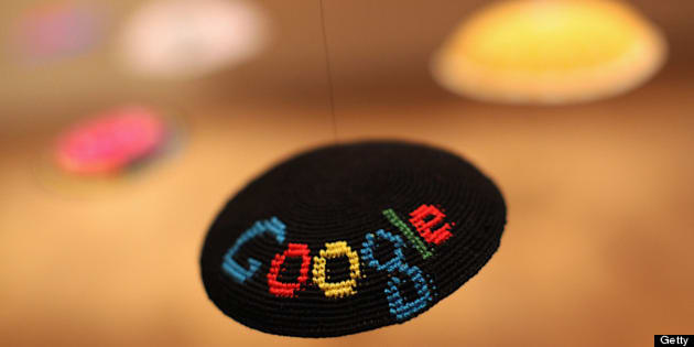 BERLIN, GERMANY - MAY 31: The Google logo is seen on a yamulke hanging at the Jewish Museum as part of the exhibition 'The Whole Truth: Everything You Always Wanted to Know about Jews' on May 31, 2013 in Berlin, Germany. (Photo by Adam Berry/Getty Images)