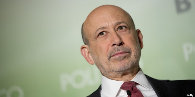 Lloyd Blankfein, chief executive officer of Goldman Sachs Group Inc., listens during an interview hosted by Politico in Washington, D.C., U.S., on Thursday, June 13, 2013. Blankfein said debate about when the Federal Reserve will raise interest rates may help avoid 'a jarring surprise' to markets. Photographer: Andrew Harrer/Bloomberg via Getty Images