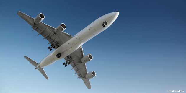 jet plane flying in blue sky ...