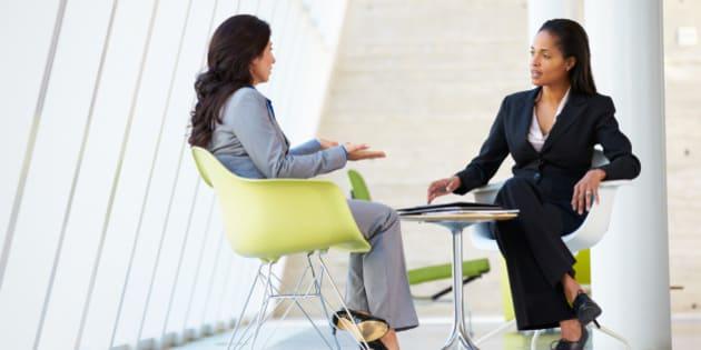 two businesswomen meeting...