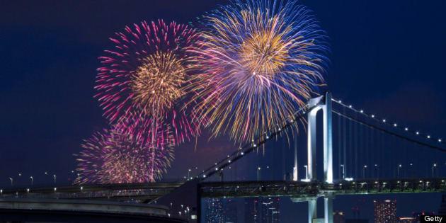 Tokyo bay grand fireworks festival,