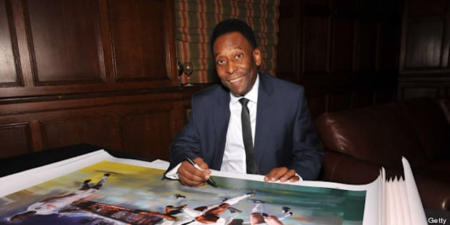 NEW YORK, NY - AUGUST 01:  Pele attends the New York Cosmos Legends Gala at Gotham Hall on August 1, 2013 in New York City.  (Photo by D Dipasupil/Getty Images for New York Cosmos)